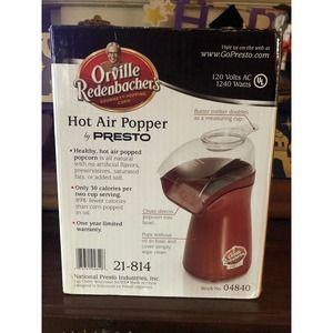 Orville Redenbacher Hot Air Gourmet Popcorn Popper